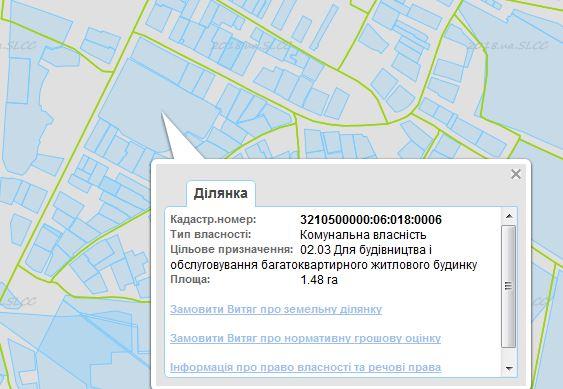 ЖК Лелека 3 в Борисполе кадастровая карта