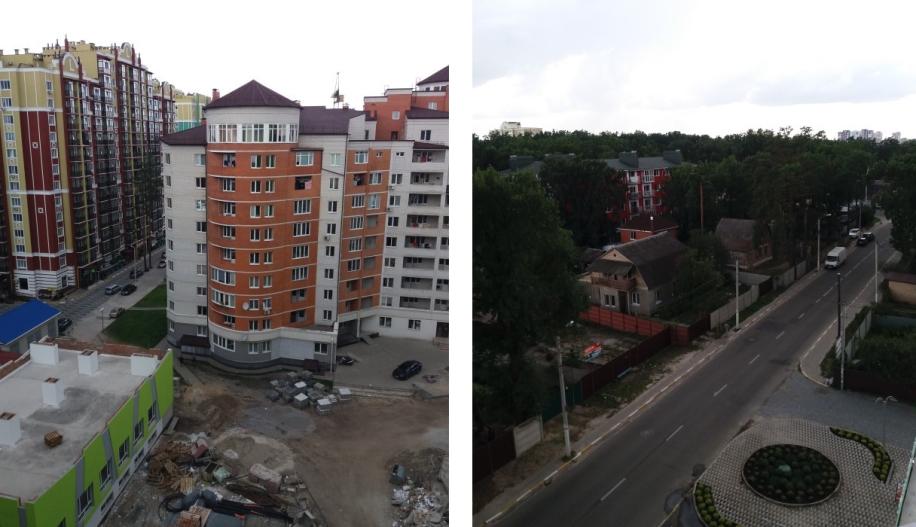 ЖК Лемонграс в Ирпене вид из окон