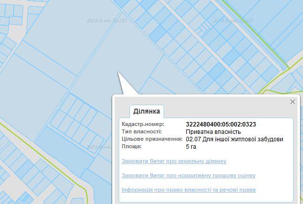 ЖК Сімейне містечко в Шевченково кадастровая карта