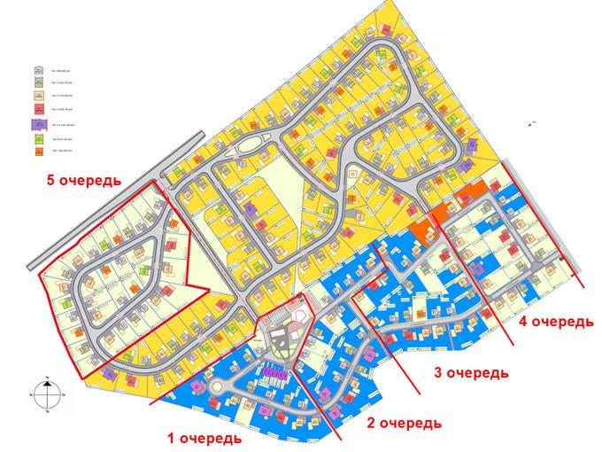 КГ Вилладжио в Белогородке генеральный план