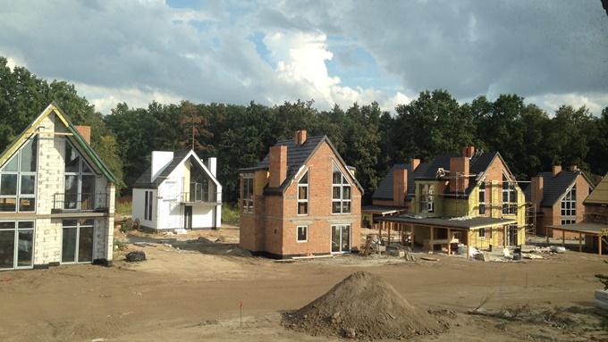 КГ Вилладжио в Белогородке ход строительства домов