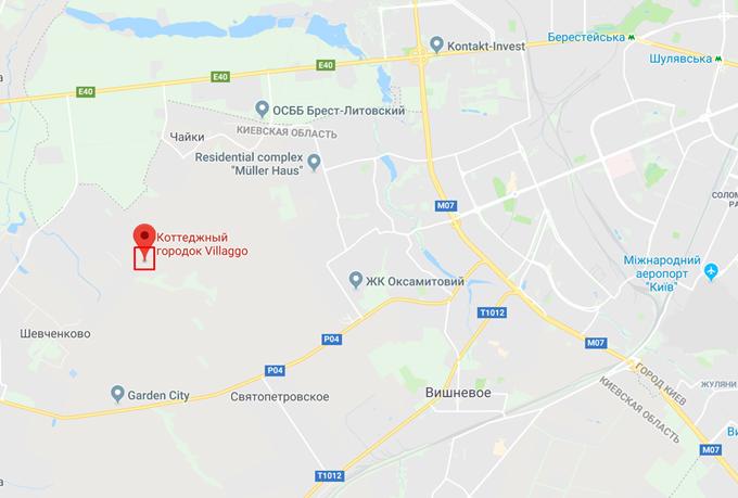 КГ Вилладжио в Белогородке на карте