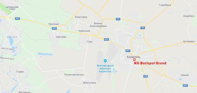 ЖК Борисполь Гранд на карте
