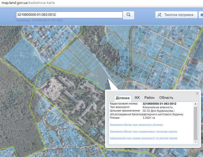ЖК Гранд Парк в Броварах кадастровая карта