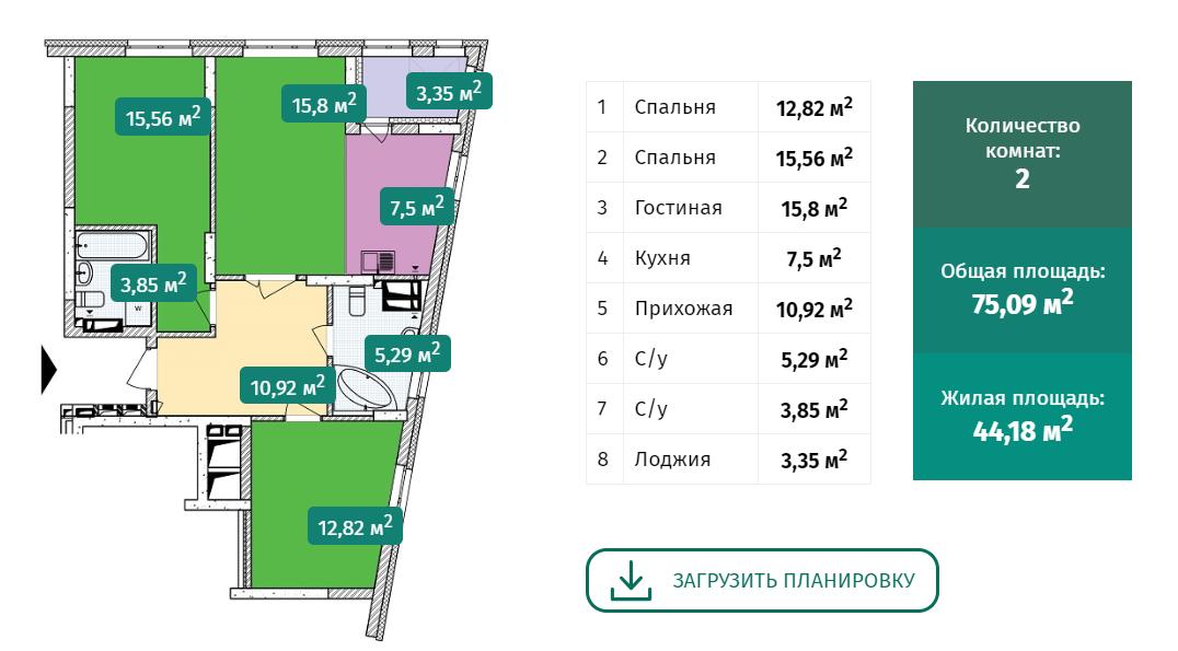 ЖК Малахит Интергал буд планировка двухкомнатной квартиры