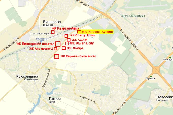ЖК Парадиз Авеню на карте