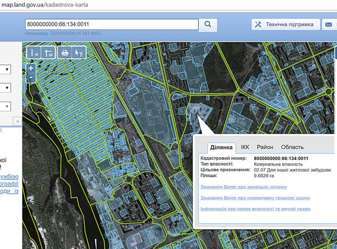 ЖК Парковые озера кадастровая карта