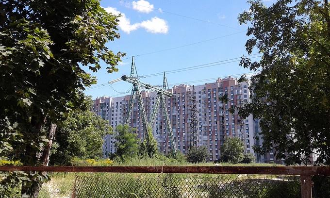 ЖК Парковый квартал Мисто Квитив ЛЭП