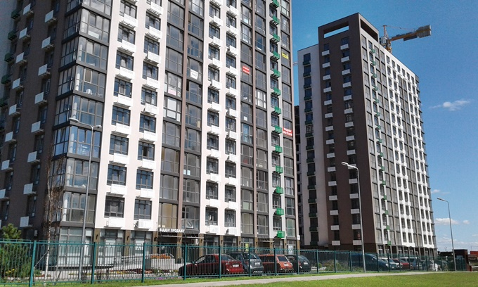 ЖК Парковый квартал Мисто Квитив фасад