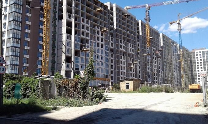 ЖК Парковый квартал Мисто Квитив ход строительства второго дома