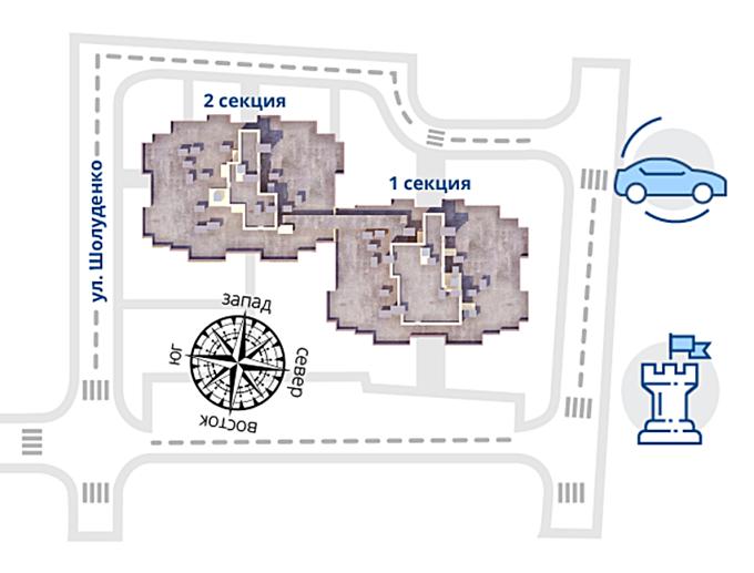 ЖК Звездная башня в Вышгороде генплан