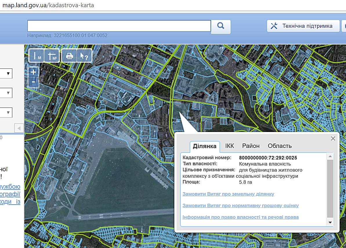 ЖК Скай Авеню от Укрбуда кадастровая карта