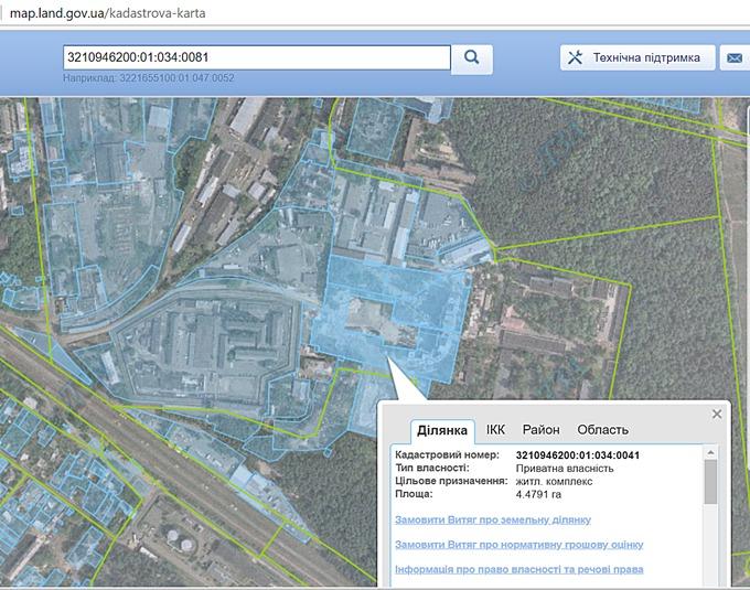 ЖК Атлант 2 в Коцюбинском кадастровая карта