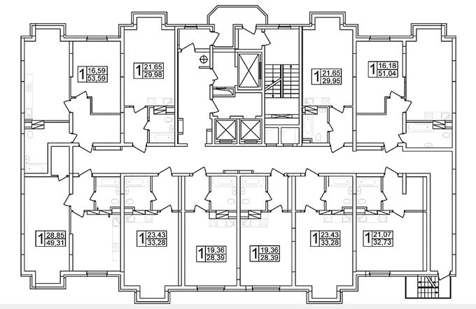ЖК Атлант 2 в Коцюбинском поэтажный план пятого дома