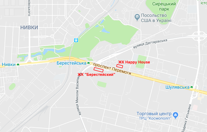 ЖК Хеппи Хаус от Сага девелопмент на карте