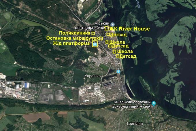 ЖК Ривер Хаус в Украинке инфраструктура