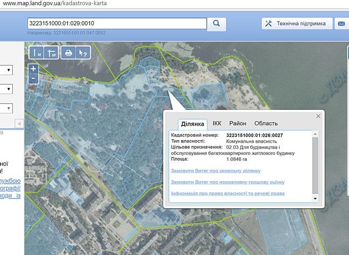 ЖК Ривер Хаус в Украинке кадастровая карта