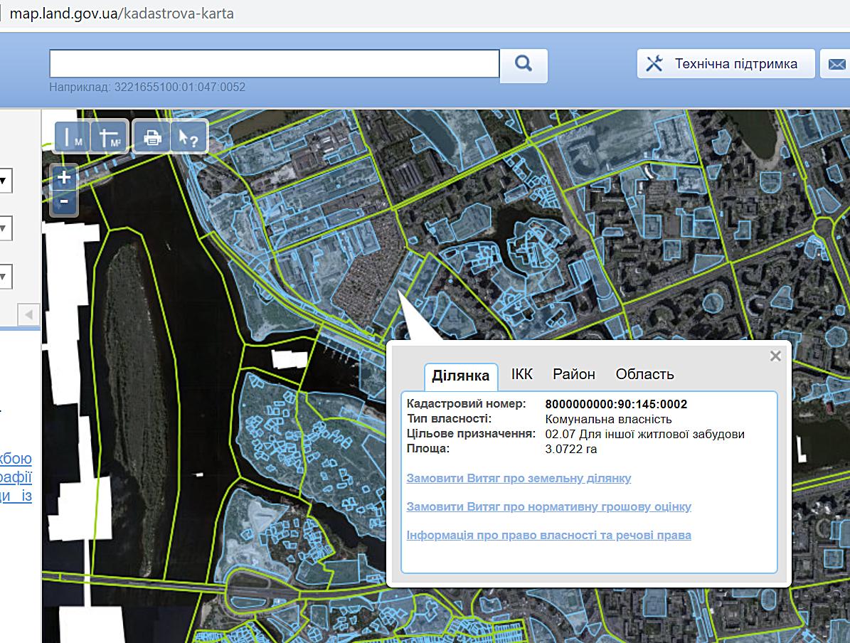 ЖК Урловский 1 от КГС данные кадастровой карты