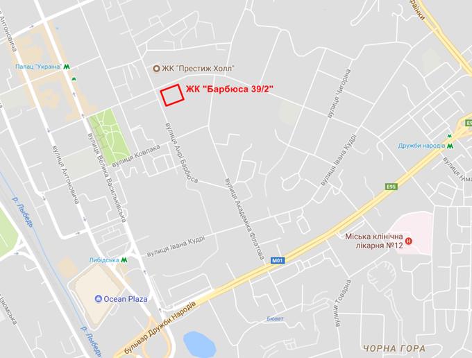 Проекты новостроек эконом класса ЖК Анри Барбюса 39/2 на карте