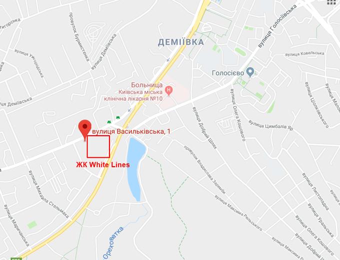 Проекты новостроек эконом класса ЖК Вайт Лайнз на карте
