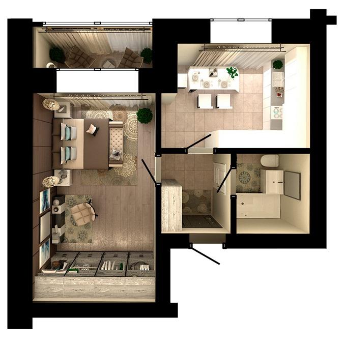 ЖК Ибис в Ирпене планировка однокомнатной квартиры