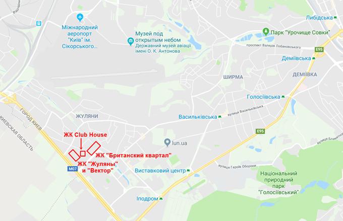 ЖК Club House карта