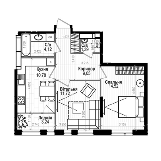 ЖК Науки 58 2-комнатная планировка