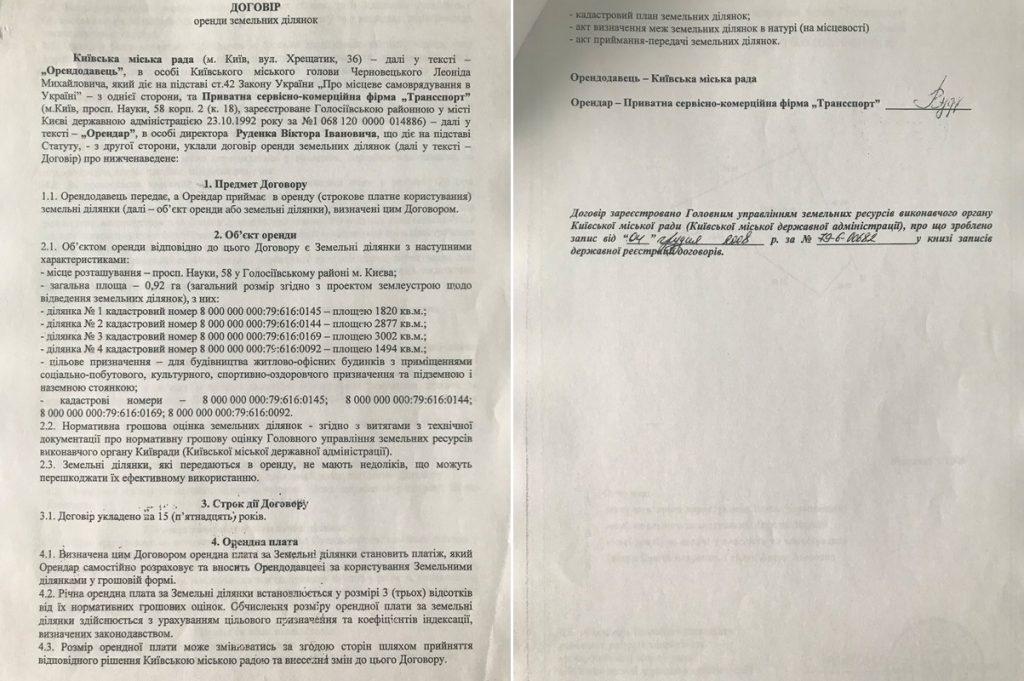 ЖК Науки 58 договор аренды