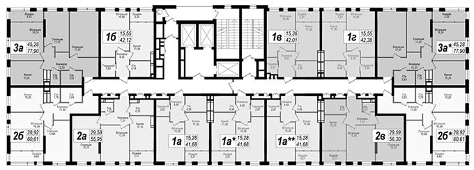 ЖК Науки 58 план этажа