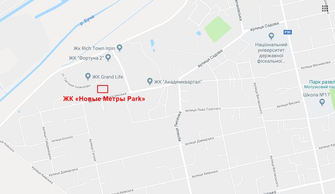 ЖК Новые Метры Park расположение