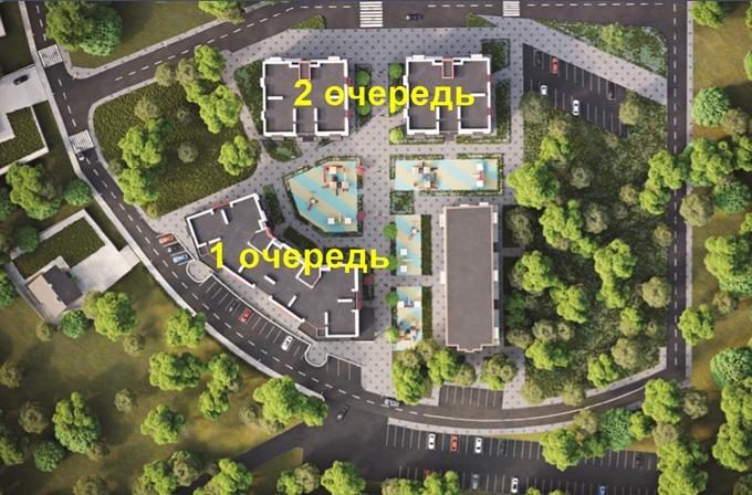 ЖК Родной в Гатном генплан