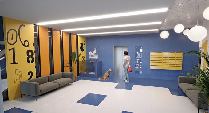ЖК Родной в Гатном лифт и душевая для собак