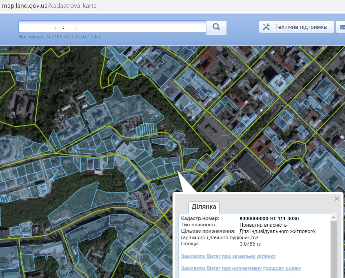 ЖК Зеленый замок данные кадастровой карты