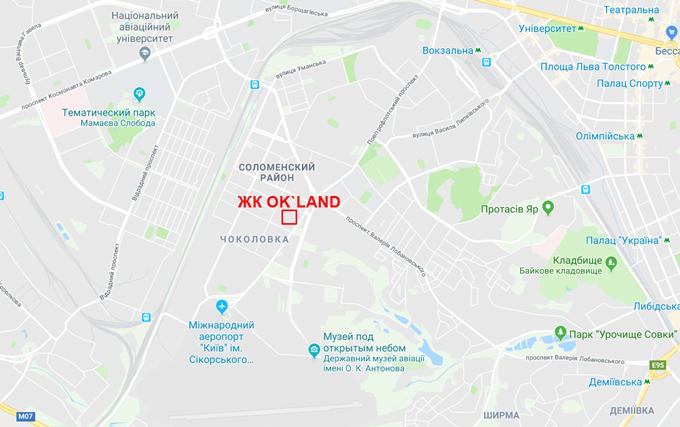 ЖК Оклэнд от РИЭЛ на карте