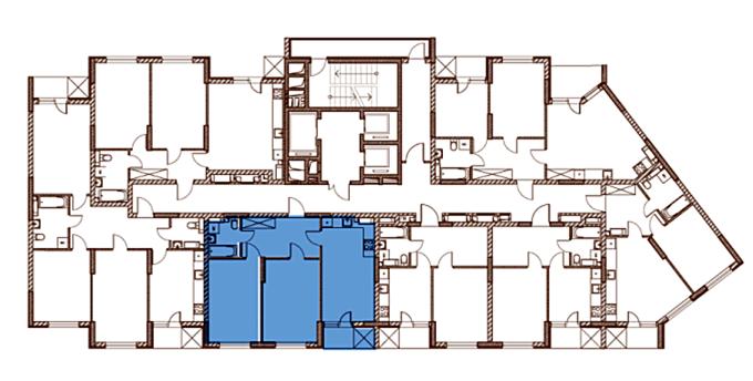 ЖК Лебединый поэтажный план дома 2
