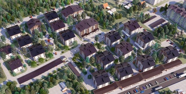 ЖК Альпийский городок в Зазимье генплан
