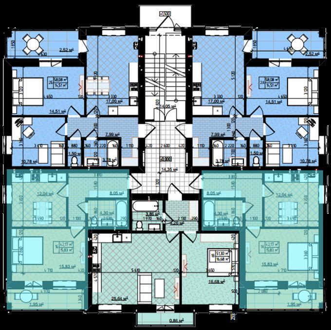 ЖК Десна Резиденс Альпийский городок в Зазимье поэтажный план дома Давос