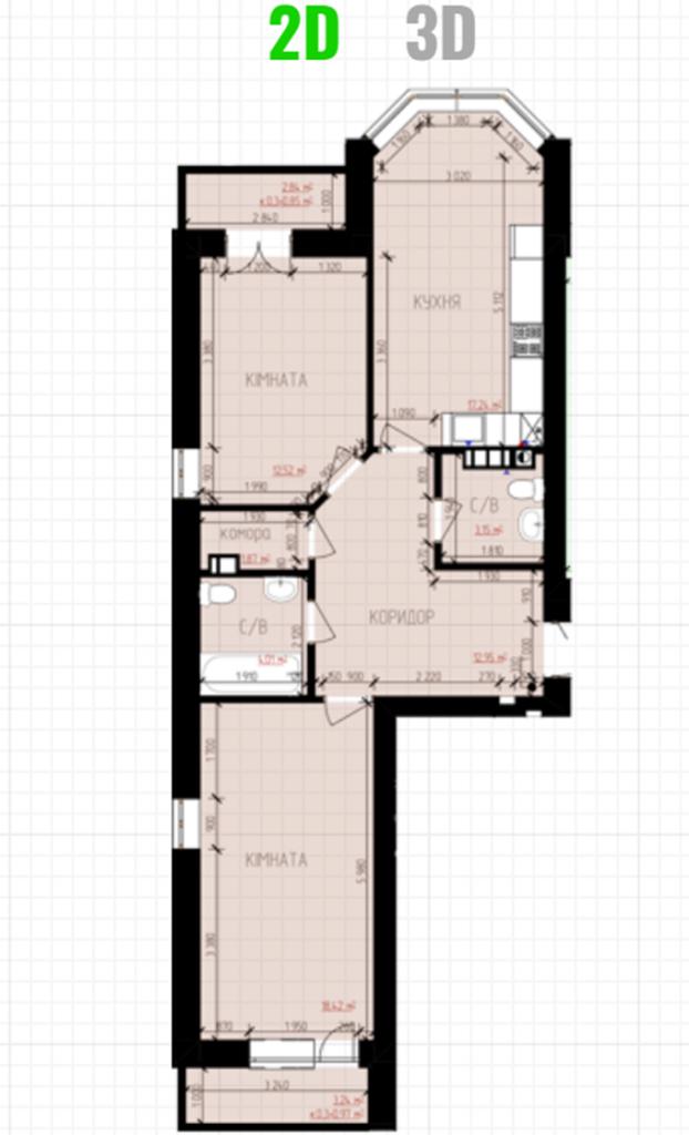 ЖК Десна Резиденс Альпийский городок в Зазимье планировка двухкомнатной квартиры