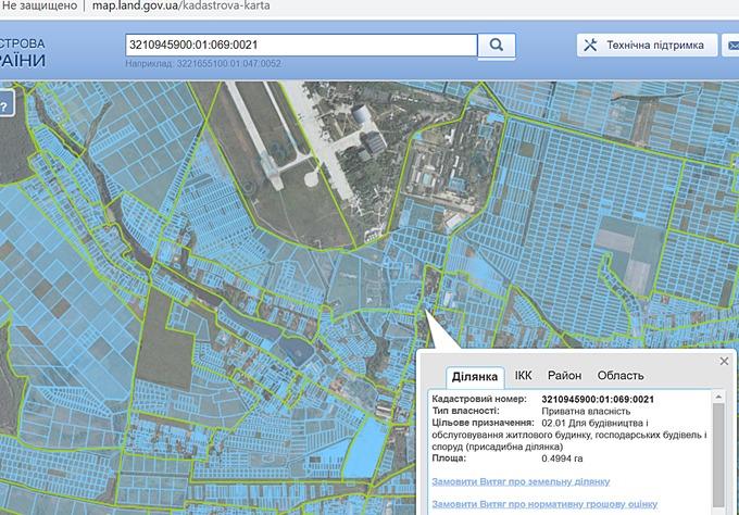 ЖК Лайф в Гостомеле кадастровая карта