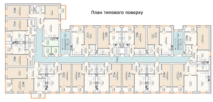 ЖК Лайф в Гостомеле поэтажный план