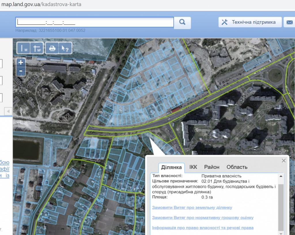 ЖК Район два на Троещине кадастровая карта