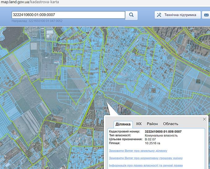 ЖК Вишневі сади в Вишневом кадастровая карта