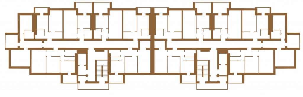 ЖК Вишневі сади в Вишневом поэтажный план