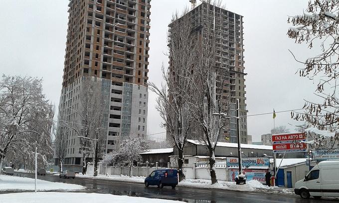 ЖК Бережанский от Галжитлобуд ход строительства вид