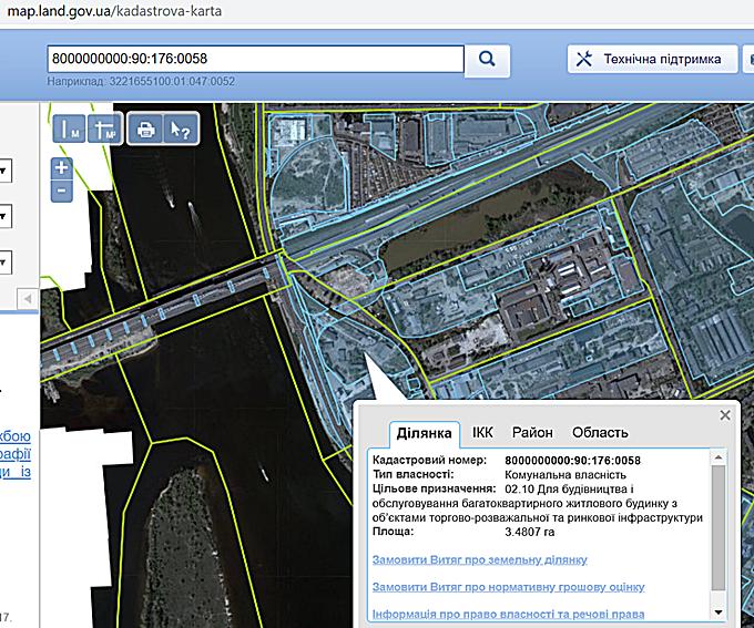 ЖК Грейт на Позняках кадастровая карта