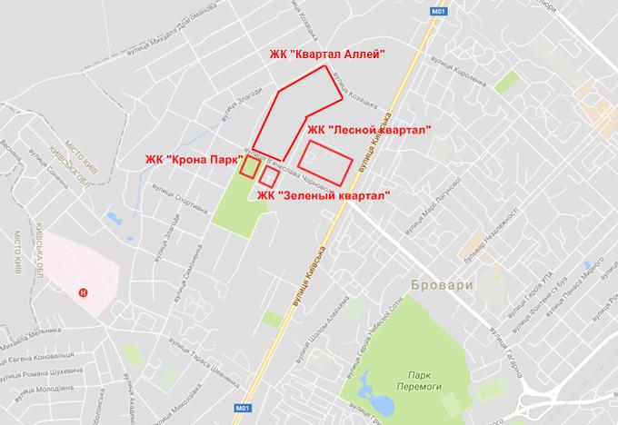 ЖК Квартал Аллей на карте
