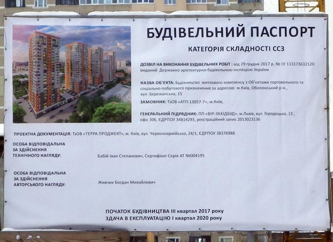 ЖК Бережанский от Галжитлобуд строительный паспорт