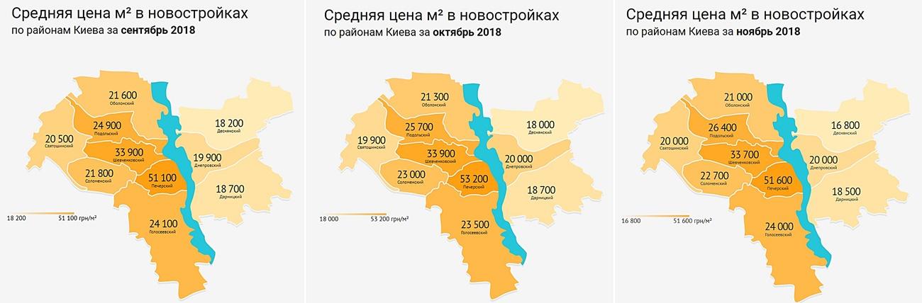 Рынок новостроек: итоги осени статистика по районам