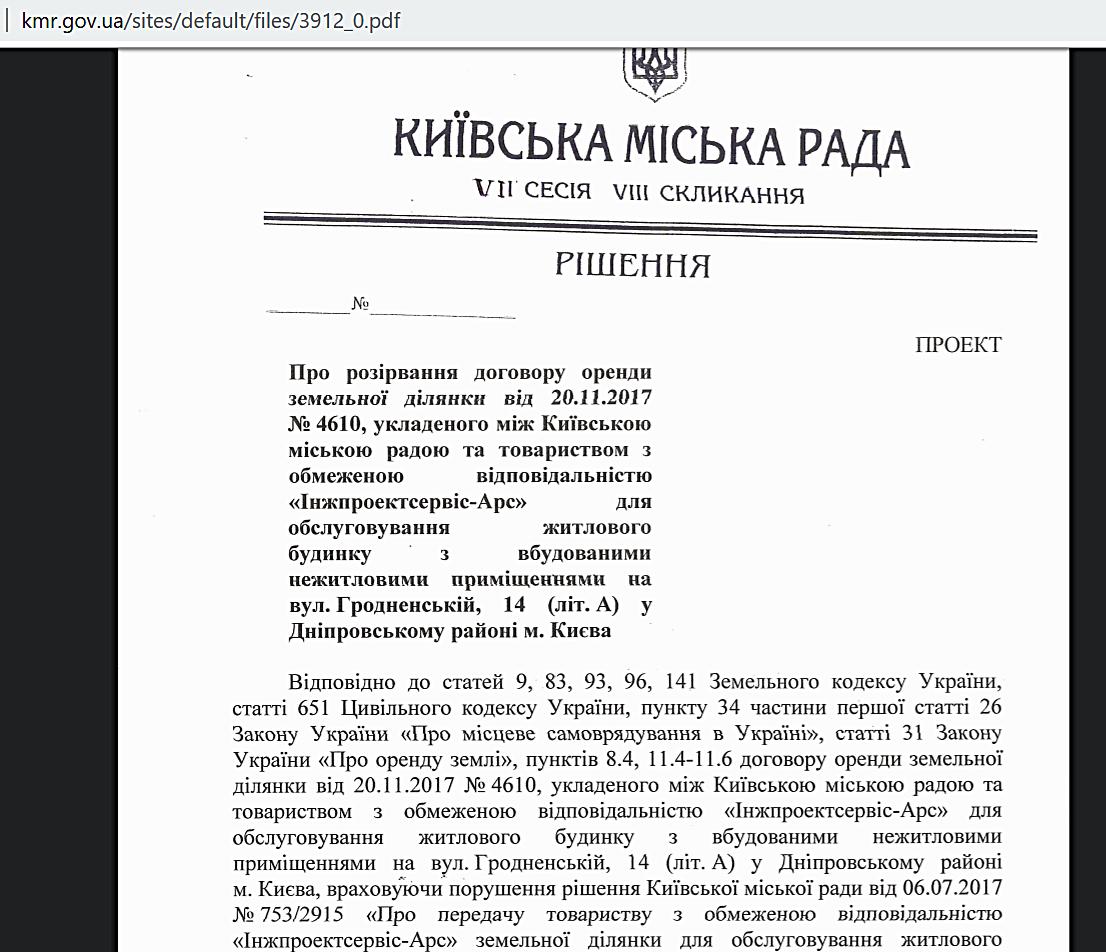 ЖК Днепровский расторжения договора