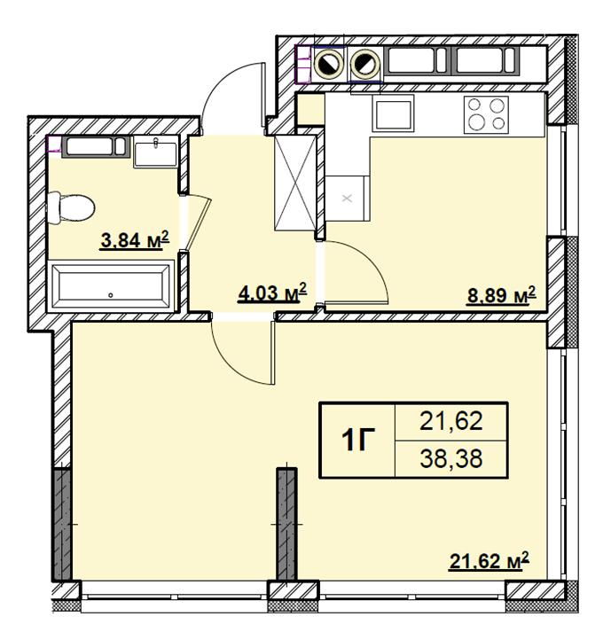 ЖК Риверсайд в Погребах планировка однокомнатной квартиры